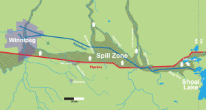 Winnipeg Aqueduct within a Spill Reach of the Energy East Pipeline